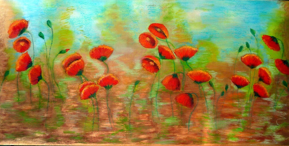 Poppies  by Barbara Cliff