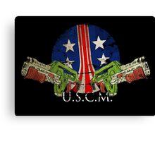 USMC Pulse Rifles Canvas Print