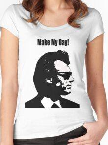Clint Eastwood Dirty Harry Make My Day Women's Fitted Scoop T-Shirt