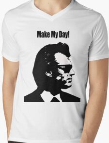 Clint Eastwood Dirty Harry Make My Day Mens V-Neck T-Shirt