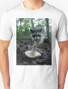 Wild Mushrooming Raccoon T-Shirt