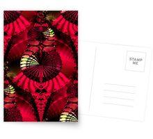The Fantastical Fractal Fan Dance Postcards