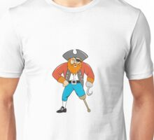 Captain Hook Pirate Wooden Leg Cartoon Unisex T-Shirt