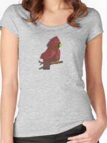 Cardinal and Winter Berries Women's Fitted Scoop T-Shirt