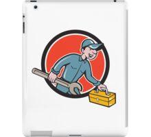 Mechanic Carrying Toolbox Spanner Circle Cartoon iPad Case/Skin
