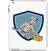 Mechanic Carrying Toolbox Spanner Shield Cartoon iPad Case/Skin