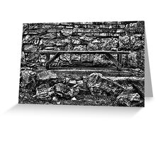 Abandoned Bench Fine Art Print Greeting Card