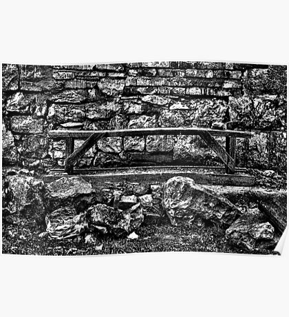 Abandoned Bench Fine Art Print Poster