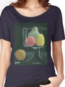 Abstract Fruit on Dark Background Still life Women's Relaxed Fit T-Shirt