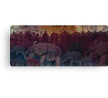 Lost City of Elephants Dusk Canvas Print
