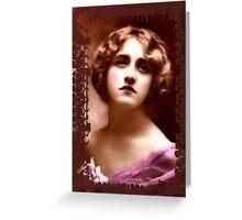 framed vintage lady Greeting Card