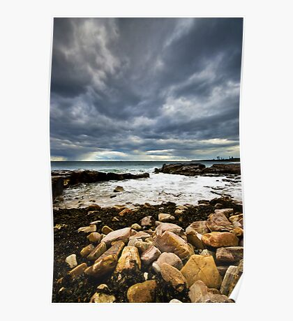 Seaweed & Rocks Poster