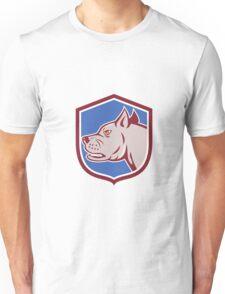 Mastiff Dog Mongrel Head Shield Cartoon Unisex T-Shirt