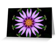 Lavender Star Flower Fractal Greeting Card