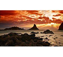 Acitrezza sunrise Photographic Print