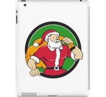 Super Santa Claus Carrying Sack Circle Cartoon iPad Case/Skin