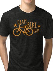 CRAZY Bike Guy Tri-blend T-Shirt