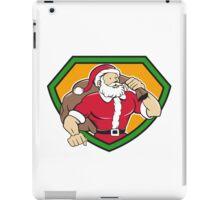 Super Santa Claus Carrying Sack Shield Cartoon iPad Case/Skin