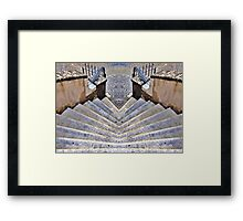 twin stair Framed Print