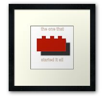 lego produts + Framed Print