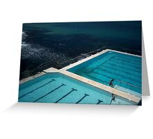 Pool by the Water Greeting Card