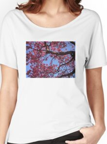 Pink Blossoms, Tabebuia Tree Women's Relaxed Fit T-Shirt