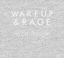 Wake up and Rage Womens Fitted T-Shirt