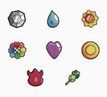 Pokemon Gym Badges: Kanto by Broseidon13