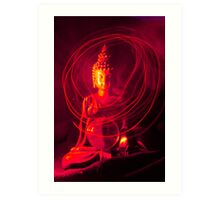 Red Buddha Art Print
