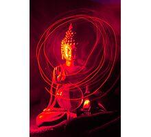 Red Buddha Photographic Print