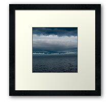 Cloudy Superior Framed Print