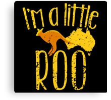 I'm a little ROO cute kangaroo with Australian map distressed version Canvas Print