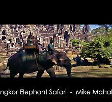 Angkor Elephant Safari by Mike Mahalo