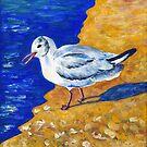 Seagull at the Baltic Sea by Caroline  Lembke