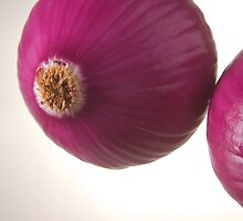 Two red onions over highlight by Javier de la Piedra