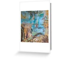 Desert and sea abstract Greeting Card