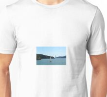 Sailboat on the bay Unisex T-Shirt