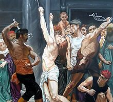 The Flagellation of Our Lord Jesus Christ after W.Bouguereau by Hidemi Tada