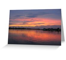 sunset ,bay lbi, n.j. Greeting Card