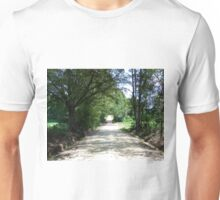 Looking Down a Country Road Unisex T-Shirt