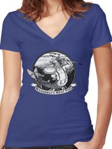 Manderly's Meat Pies. The North Remembers. Women's Fitted V-Neck T-Shirt