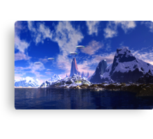 Spring Visitors - A First Contact Image Canvas Print