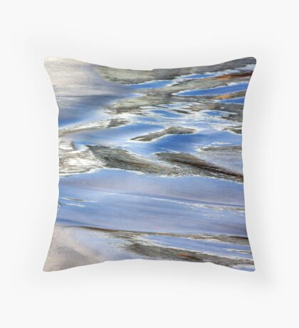 Water paint Throw Pillow