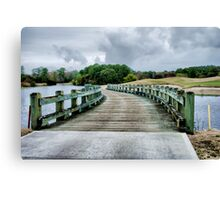Bridge to Green Canvas Print