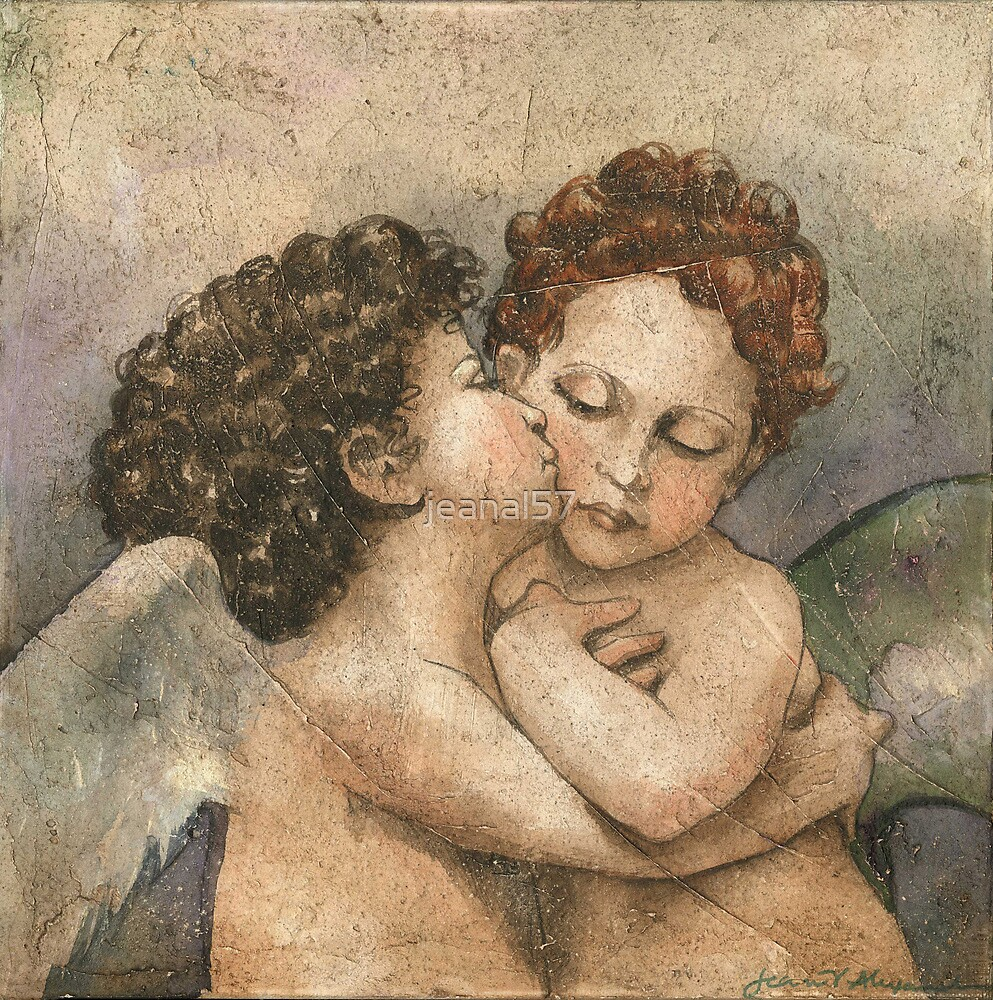 Il Bacio (after Raphael) by jeanal57