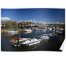 View of River Stour - Christchurch Poster