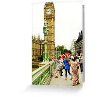Smile Please: Tourists and Big Ben Greeting Card