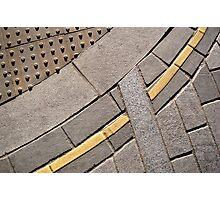 London financial district curb composition Photographic Print