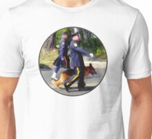Policeman and Police Dog in Parade Unisex T-Shirt