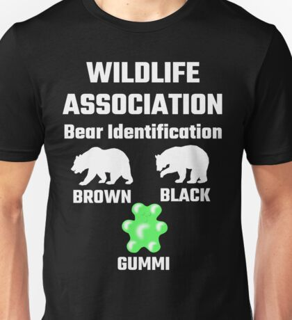 Wildlife Association Bear Identification Unisex T-Shirt